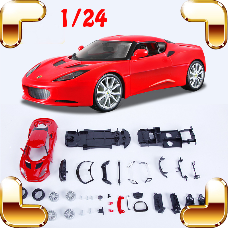 ФОТО New Idea Gift Lotus Evora 1/24 Model Assembly Car Collection DIY Handmade Models Scale Boys Present Education Game Toys Diecast