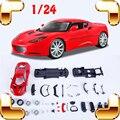 New Idea Presente Lotus Evora 1/24 Montagem Modelo de Carro Coleção de Modelos Feitos À Mão DIY Meninos Presente Educação Jogo Brinquedos Diecast Escala