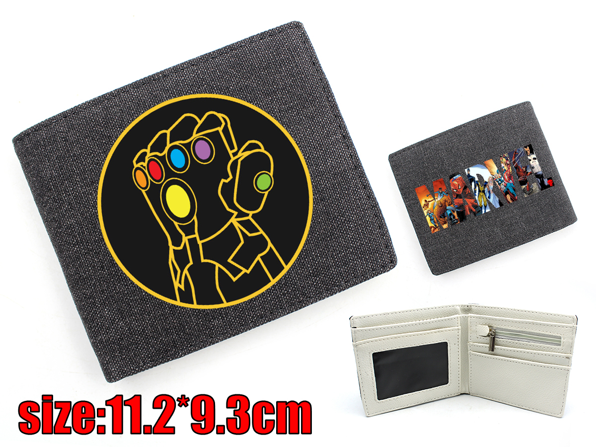 Giancomics Hot Marvel Comics Canvas Wallet Diversiform Cartoon Fashion Money Coin Convenient Pocket Card Cool Holder Otaku Gifts