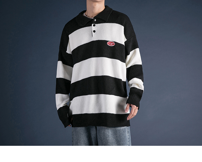 Korean Turtleneck Sweater Men Pullover Streetwear (25)