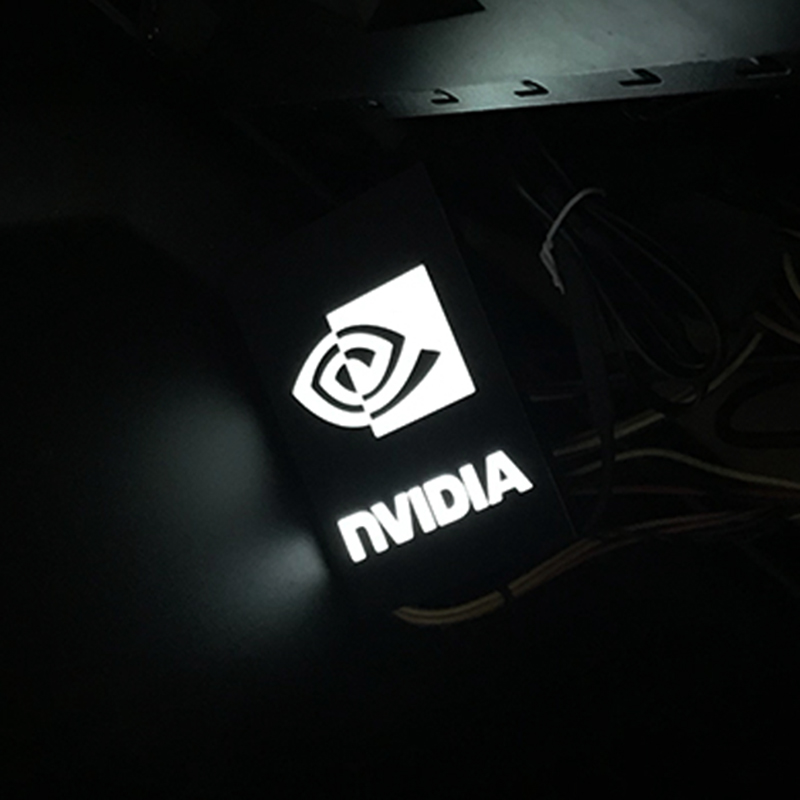 New SSD Light Board Internal Chassis Nameplate Faith Light Board For ROG EVEA Hard Drive Power Supply Connector Decoration Cards