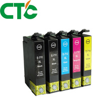 5 Pack Compatible Ink Cartridge Replacement for INK T0711 for INK Stylus D78 D92 D120 SX210 SX215 SX100 SX200 DX4000 DX4050 lcl 765 9 1 pack red ink cartridge compatible for pitney bowes dm300c dm400c dm425c ml dm425c mm dm450c dm475c 3c00 4c00 5c00