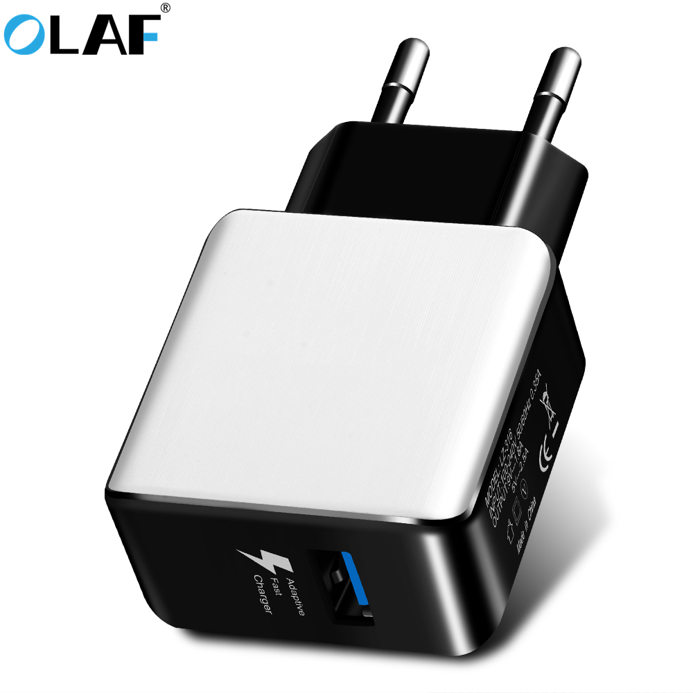 OLAF EU Plug 2.4A USB Charger Quick Charge 3.0 2.0 Travel Wall Mobile Phone Charger For iPhone 7 8 X Samsung S8 Note 8 Xiaomi