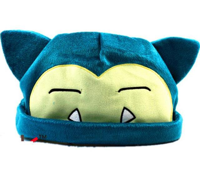 Free Shipping 1pcs Pokemon Snorlax Plush Beanies Cosplay Hat 20cm For Adult free shipping green hair pokemon cosplay wigs