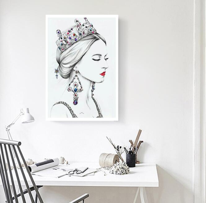5d diy diamond painting cross stitch 3d diamond embroidery kits Sketch Queen picture diamond mosaic Home Decoration sales Y3718