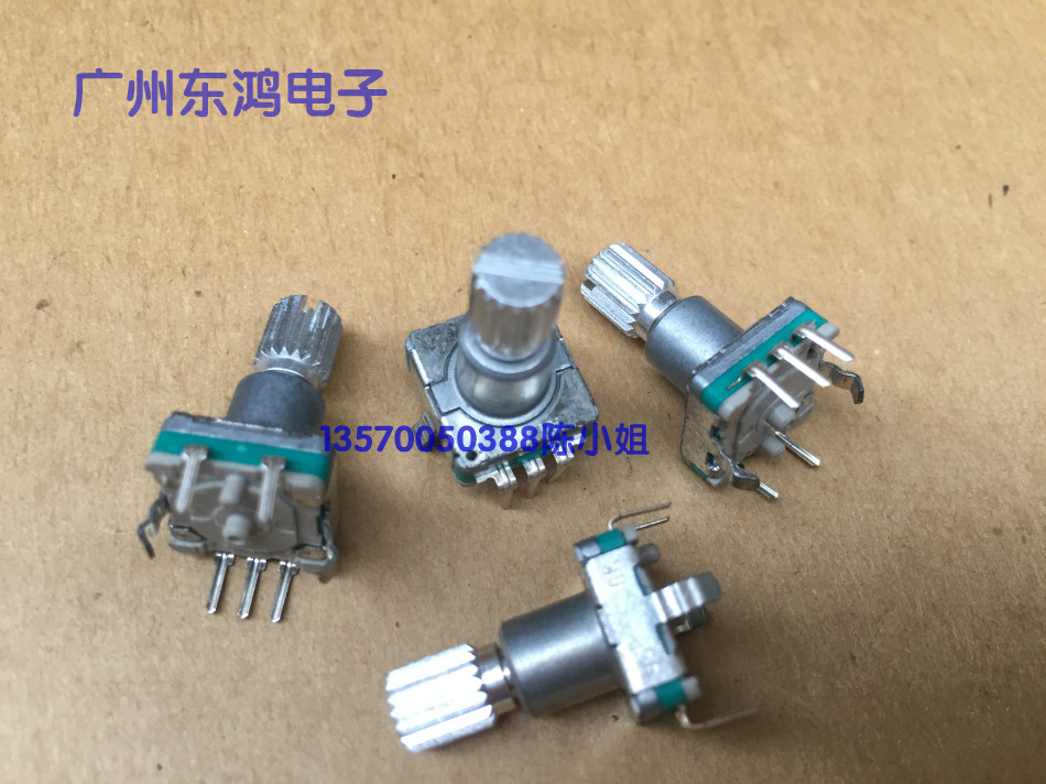 5PCS//LOT EC11 encoder with switch 30 Positioning number 15 Pulse axis length 15mm Press stroke 1.5MM
