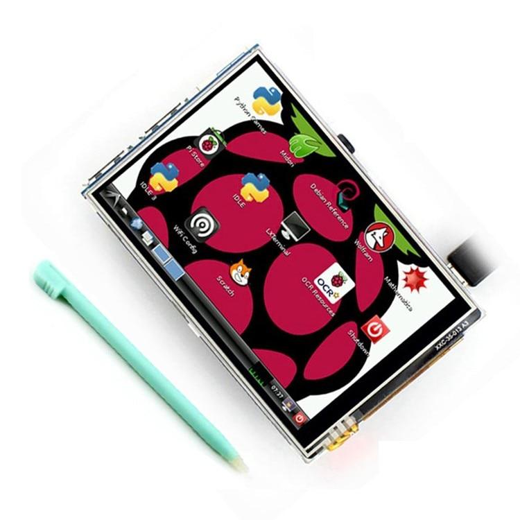 """Meilleur prix Original 3.5 """"LCD TFT écran tactile affichage pour framboise Pi 4B/framboise Pi 3 modèle B conseil + étui acrylique + stylet"""