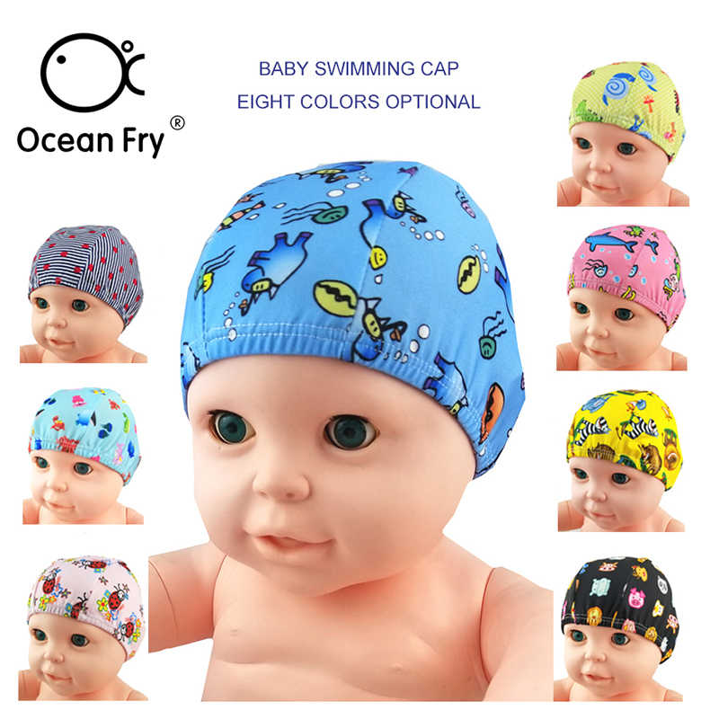 Baby Newborn Cute Swimming Caps 0-6Y Infant Cartoon Printed Swimming Hats  Bathing Waterproof Caps 81671516a28