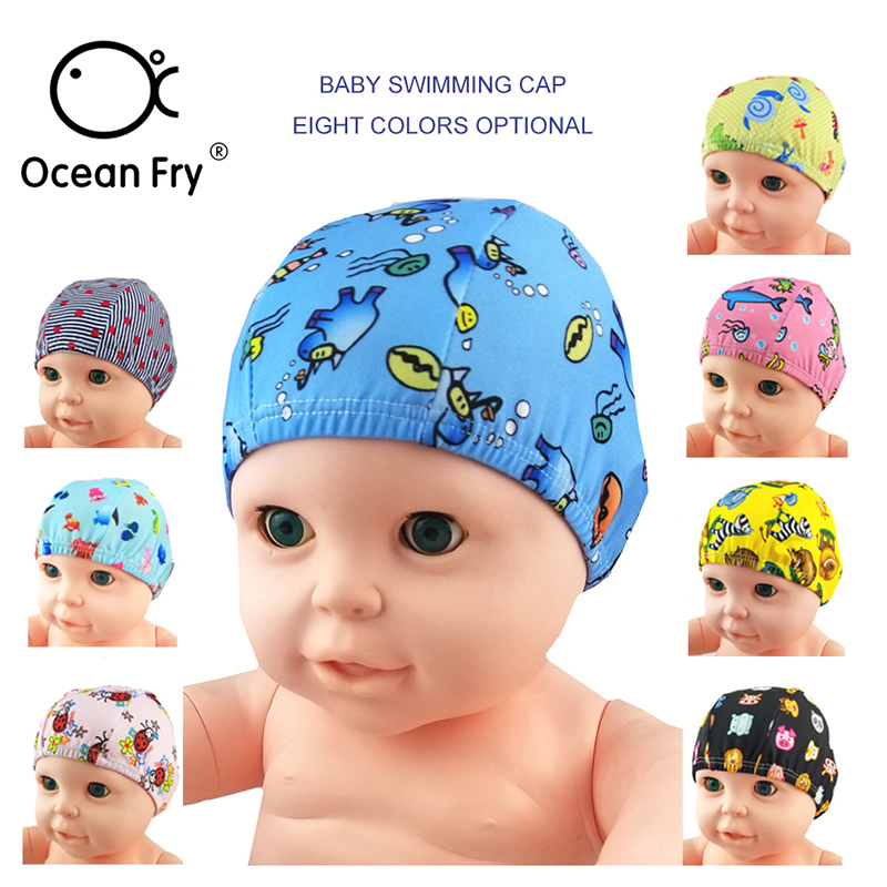 Baby Newborn Cute Swimming Caps 0-6Y Infant Cartoon Printed Swimming Hats Bathing Waterproof Caps For Children Boys Girls Pool