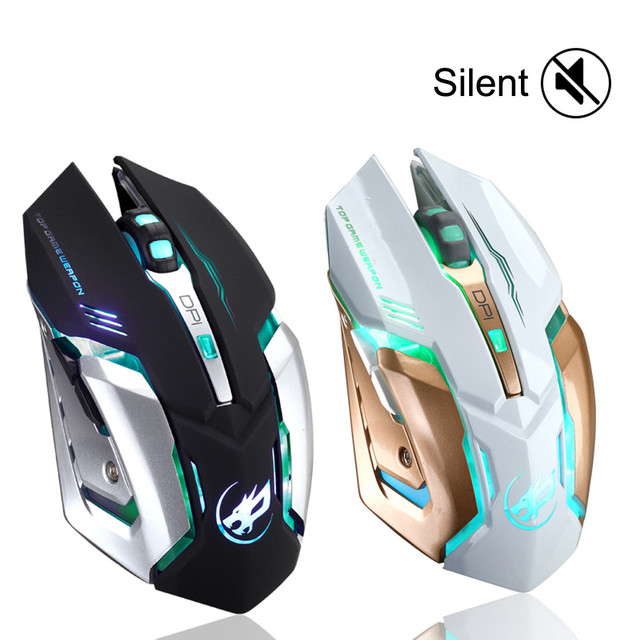 Rechargeable T1 Wireless Mouse Silent Led Backlit Usb Optical