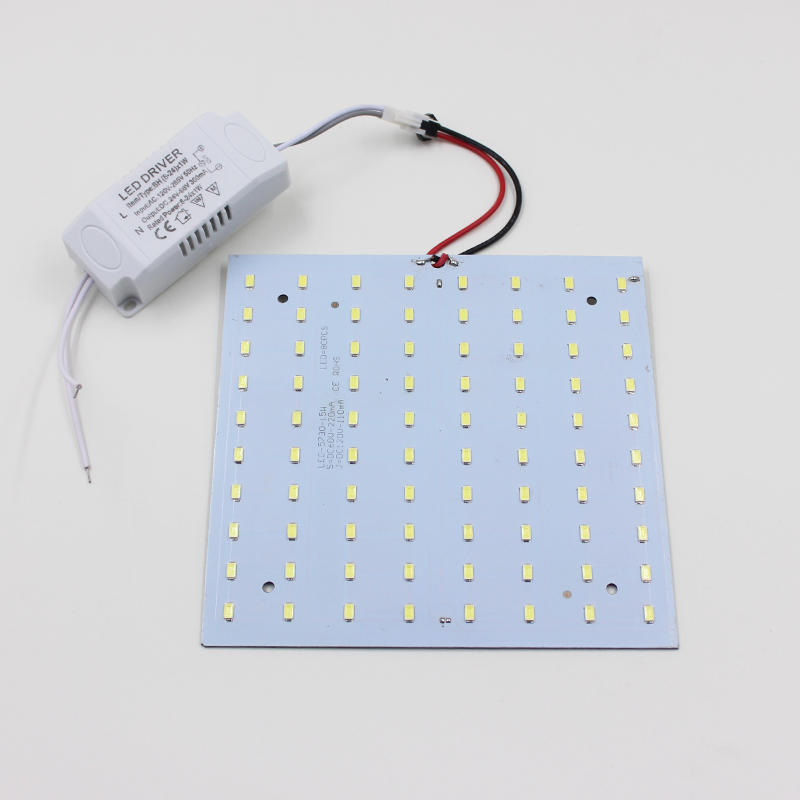 Envío gratis 180-265V LED Panel Lámpara Plaza 10W 15W 18W 20W 25W - Iluminación LED - foto 2
