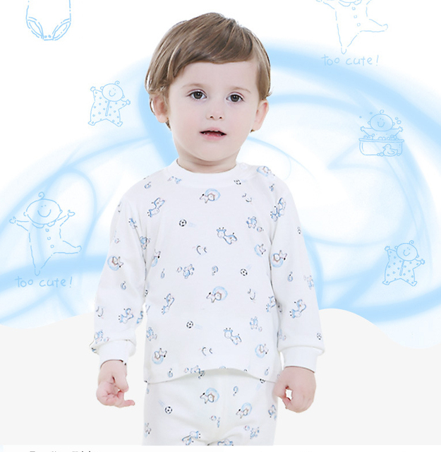 1c1cc2a19364 1 to 3 years old double sided cotton clothes baby is long suit baby ...