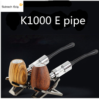 K1000 E pipe vape mod starter kits with 3.5ml capacity dual coils glass atomizer tank vaporizer vape pen for e liquid vaporzer