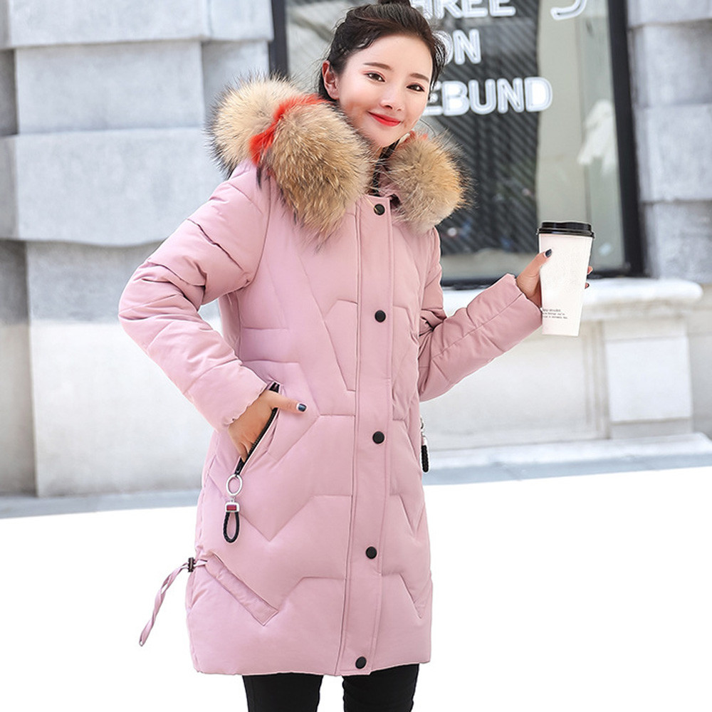 Autumn warm winter jackets women long parka plus size cotton womens outwear abrigos mujer invierno 2018 in 4 colors