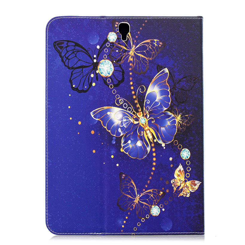 Fashion Butterfly Case For Samsung Galaxy Tab S3 9.7 T820 T825 SM-T820 Smart Cover Funda Tablet Silicon PU Leather Stand Shell