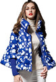 Wholesale 2017 European Style Warm 90% White Duck Down Jacket Winter Jacket Short Thick Cloak Print Floral Parkas w1490