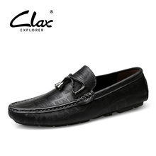 CLAX Mans Shoes Genuine Leather 2019 Spring Summer Mens Boat Shoe Breathable Male Casual Loafers Moccasins Soft