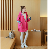 Maternity Coat hooded loose Jacket sweater pregnant women coat Plus Size Jackets Clothes for Pregnant Women Pregnancy Outwear