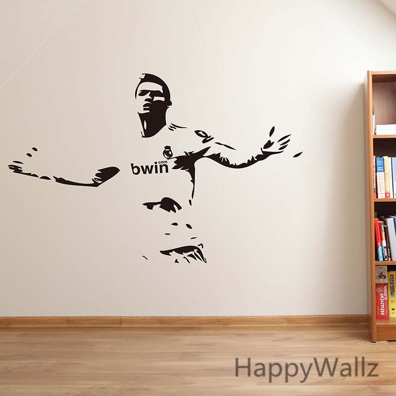 Aliexpress.com : Buy Football Star Wall Sticker Football Player Wall Decal  76x56cm DIY Boys Vinyl Wall Art Sports Wall Decoration S28 From Reliable  Wall ... Part 47
