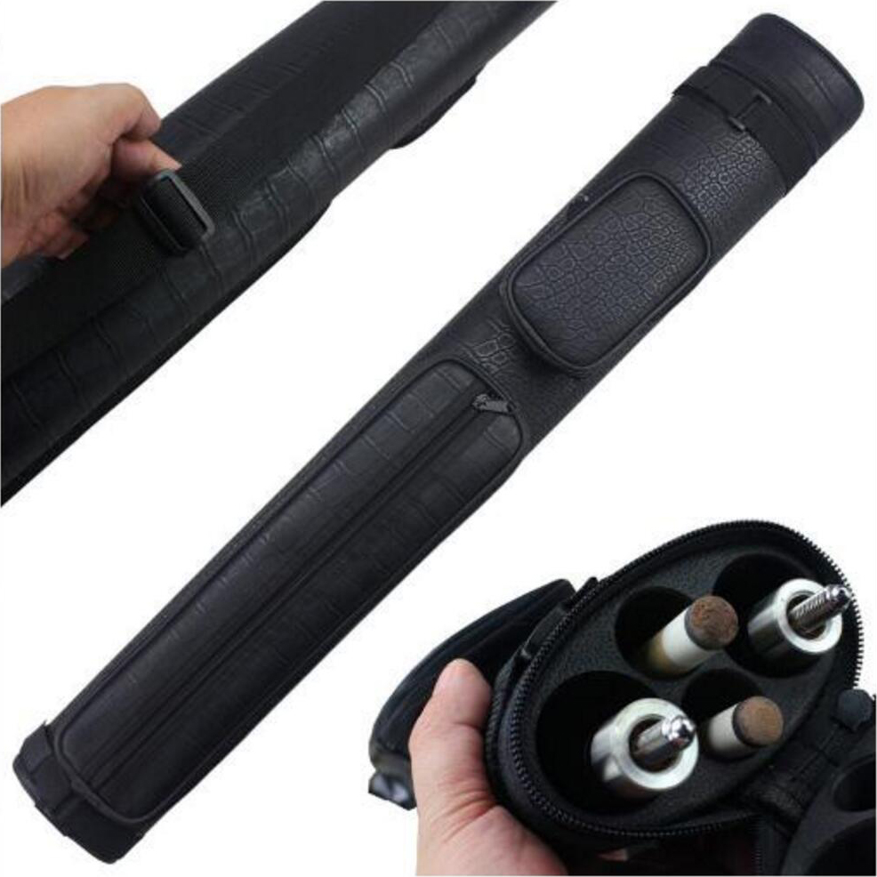 2019 Durable Pool Cue Case High Quality Billiards Pool Cue Cases 4 Holes 82cm Length 4 Holes (2 Shaft+2 Butt) Billiard Bag