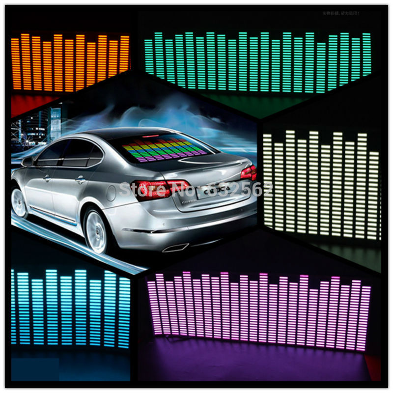 OKEEN 90 25 cm 5 Colour Music Rhythm EQ Car Sticker Music Equalizer on Car Windshield