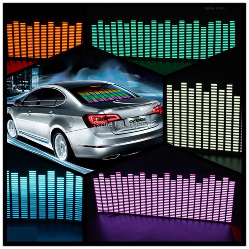 OKEEN 90*25 cm 5 Colore Autoadesivo Dell'automobile Musica Ritmo di Musica EQ equalizzatore sul vetro Parabrezza Auto LED Musica Suono EL Sonore Adesivi