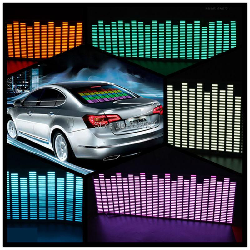OKEEN 90*25 см 5 цветов музыкальный ритм EQ Автомобильная наклейка музыкальный эквалайзер на лобовое стекло автомобиля светодиодсветодиодный зв...