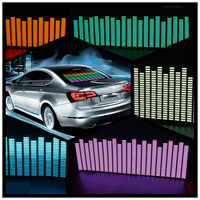 OKEEN 90*25 cm 5 Colour Music Rhythm EQ Car Sticker Music Equalizer on Car Windshield glass LED Sound Music EL Sheet Stickers