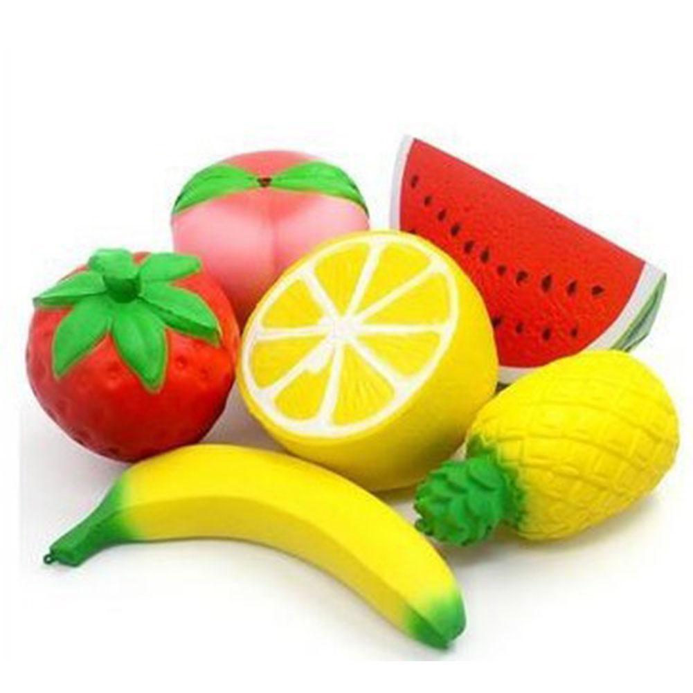 6Pcs Squishy Toys Slow Rising Fruit Squishy Set Kawaii Hand Wrist Toys Stress Reliever Kid's Toys