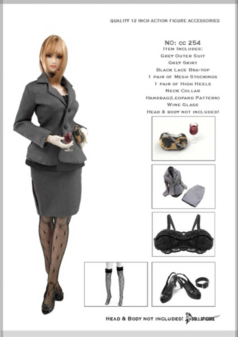 """1//6 Scale Women Office Lady White Shirt For 12/"""" PH JO Female Action Figure Toy"""
