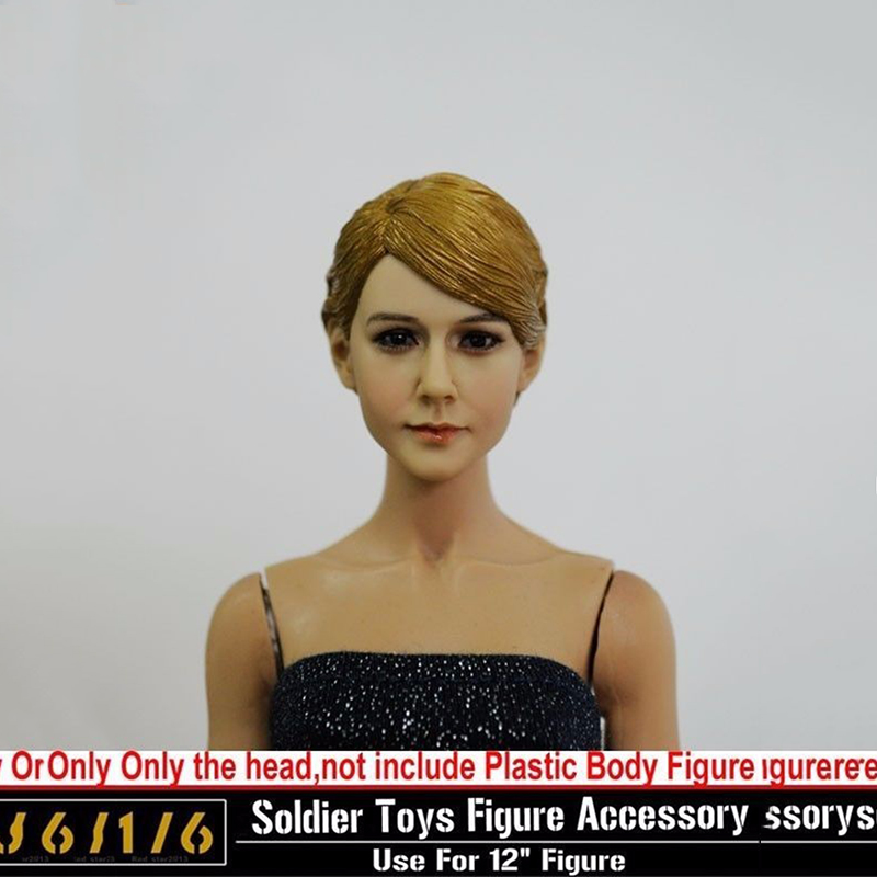 ФОТО Popular TOYS 1 6 Female Short Hair Head Sculpts Model Kids Toys Girl Carving 13 46 NP 12 Action Figure  Collections