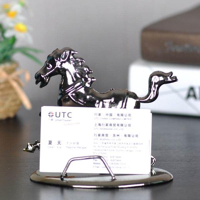 Free shipping horse rack business card holder desktop decoration free shipping horse rack business card holder desktop decoration iron card holder cell phone holder modern colourmoves