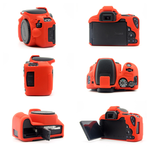 Image 3 - Rubber Silicon Case Soft Body Cover Protector Skin for Canon EOS 200D 250D / 200D II Rebel SL2 SL3 Kiss X9 X10 DSLR Camera