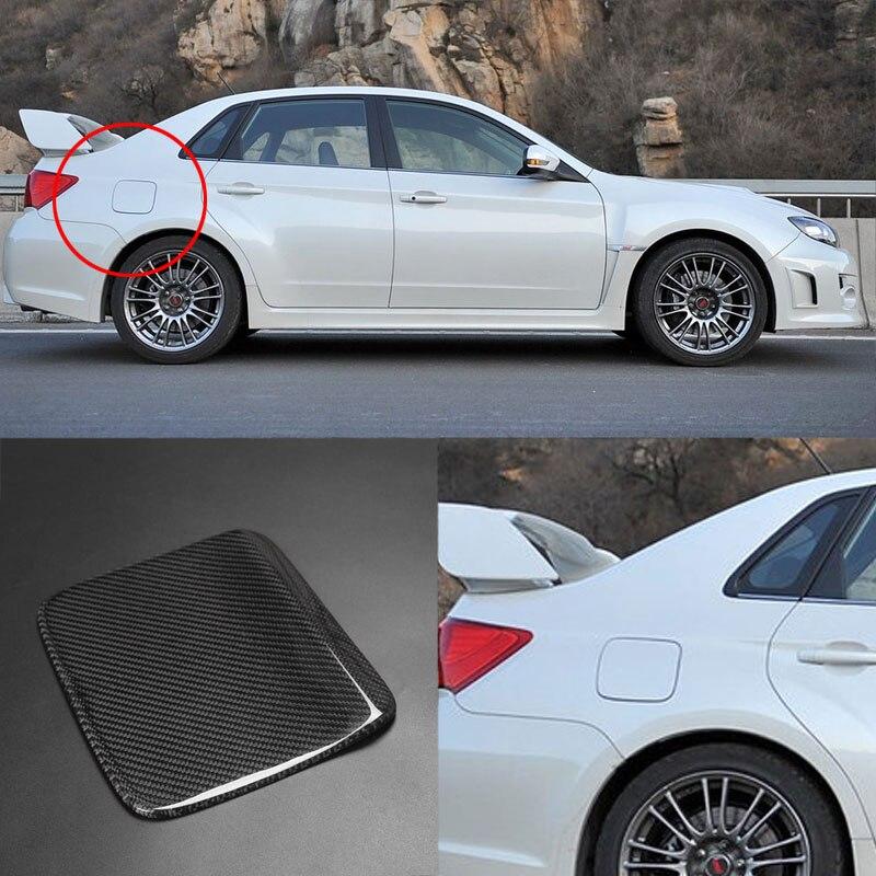 3D Real Carbon Fiber Gas Fuel Cap Door Cover Pad Sticker Decal For Subaru Impreza 2008-2011