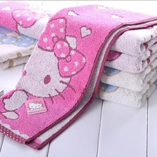 723671f62 5 Pcs Hello Kitty Women Cotton Face Washing Towels Cartoon Girl Bath Shower  Towel Size 46X26CM