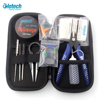 Glotech Coil Jig Japanese Organic Cotton Pliers Ceramic Tweezer Heating Wire DIY Tools Kits For E