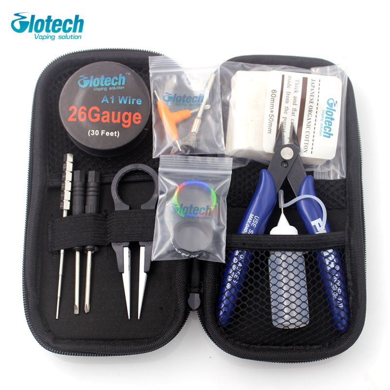 Glotech coil jig Japanese organic cotton pliers Ceramic tweezer heating wire DIY tools kits for E cigarette RBA RDA RTA atomizer
