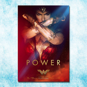 Wonder Woman DC 2017 Movie New Gal Gadot Art Silk Canvas Poster 13x20 20x30 Inch Picture For Room Decor (more)-16
