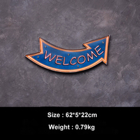 WELCOME LED Light Neon Wall Decor Hanging Plate For Home Bar Club Cafe Advertising Illuminated Signage