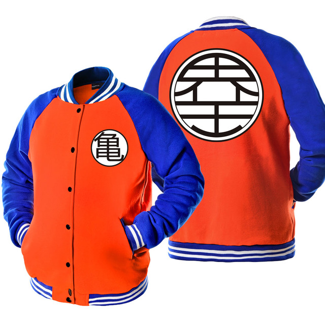 Dragon Ball Z Baseball Son Goku Baseball Jacket Hoodie
