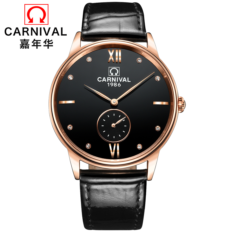 Hot Sale Relogio Masculino New Switzerland Carnival Top Brand Luxury Mens Watches Sapphire Fashion Quartz Wristwatches Clock 2017 new top fashion time limited relogio masculino mans watches sale sport watch blacl waterproof case quartz man wristwatches
