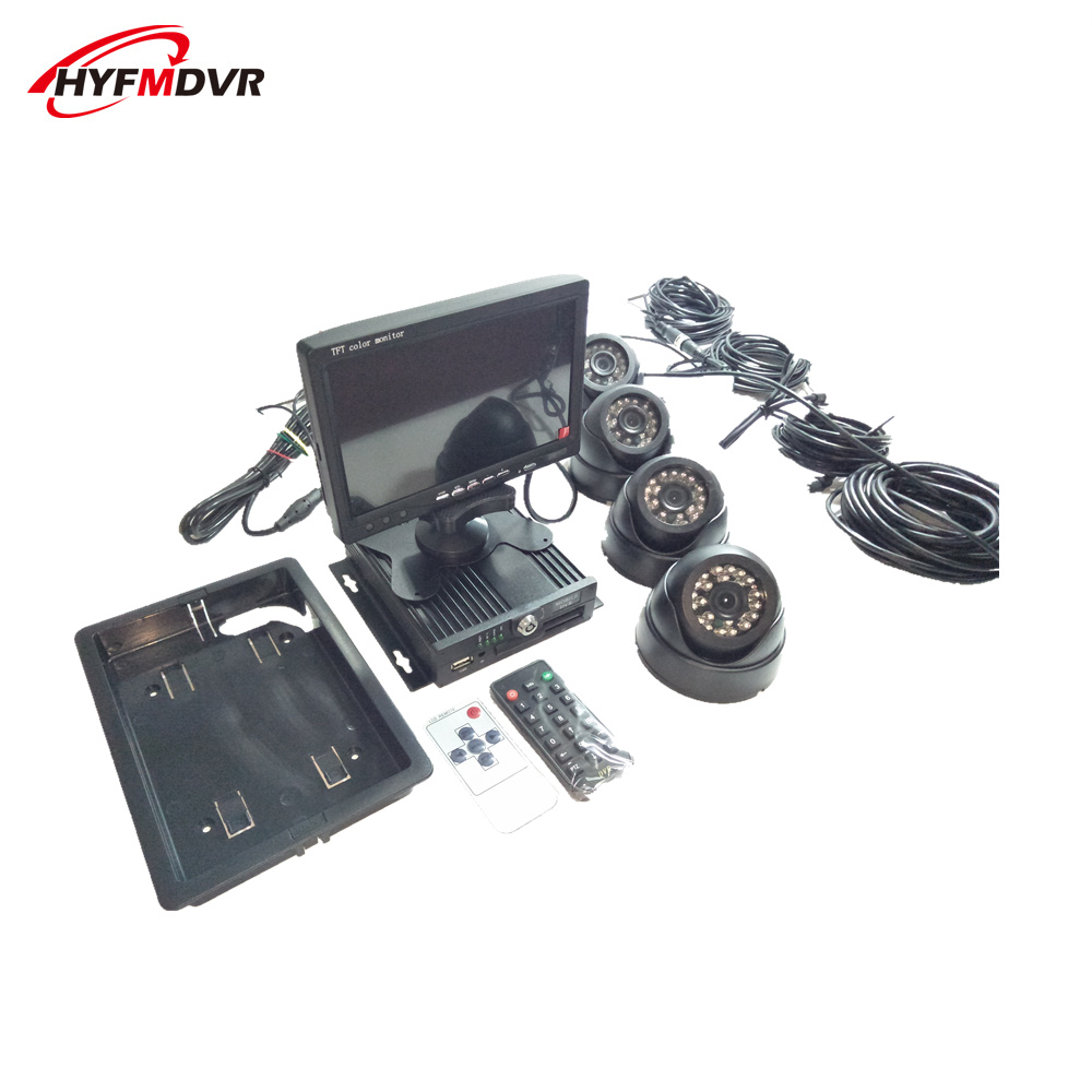 School bus DVR integrated vehicle monitoring system 720P full set of air head interface equipment NTSC/PAL standardSchool bus DVR integrated vehicle monitoring system 720P full set of air head interface equipment NTSC/PAL standard