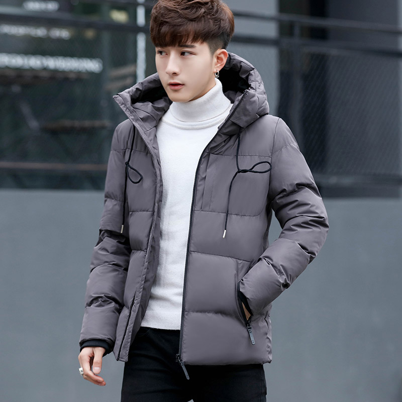 2019 New Winter Men's Parkas Large Size Short Hood Trend Self-Cultivation Cotton Coat Fluffy  Winter Windproof Warm Parkas LQ572(China)