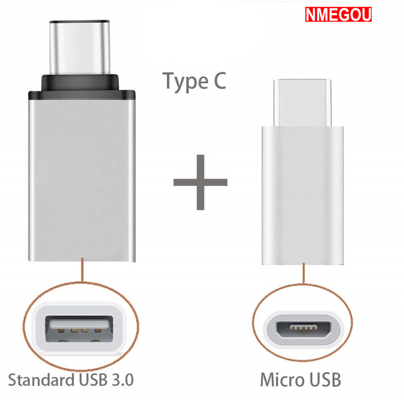 2 In 1 Type C To USB OTG Adapter Type-C To Micro USB Converter For Leeco Le Eco Le 2 Pro 3 One Plus 5t 6 5 Typec Microusb Cable