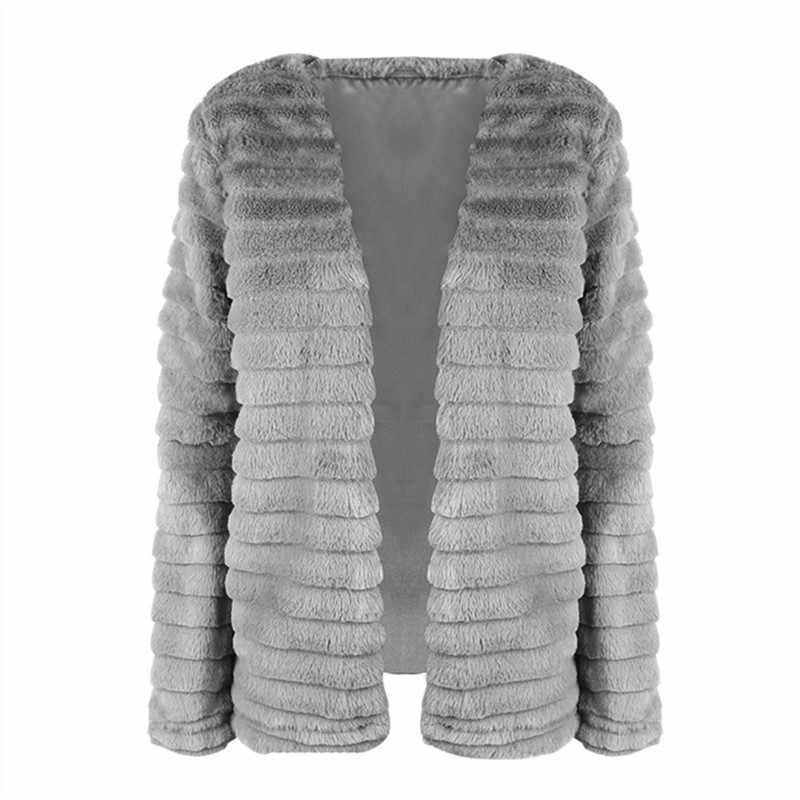 шуба из искусственного меха куртка женская с мехом шубы из натурального меха куртки женские осень-зима меховое пальто зимнее женское плюшевая шуба большой размер искусственный мех пальто серая шуба зимняя 177007