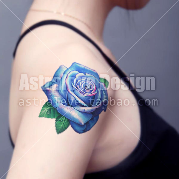Exclusive Aesthetic Tattoo Enchantress Color Blue Roses Color