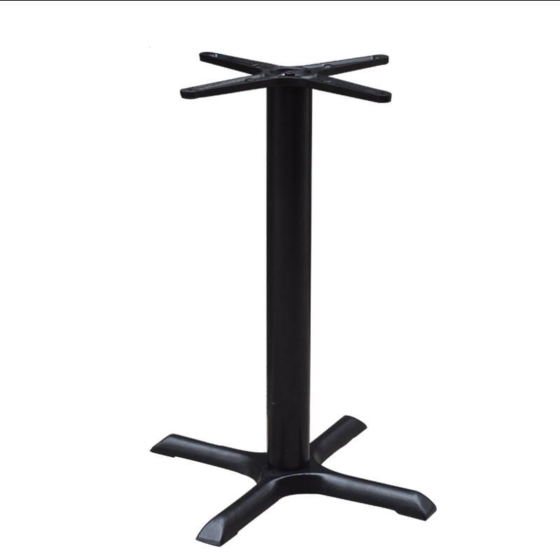 Cast Iron Table Leg Holder Black Dining Table Stand Custom Restaurant Coffee Shop Table Support Frame Cross Base Bracket