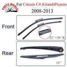 Лобовое стекло автомобиля передний и задний рычаг стеклоочистителя и лезвие для Citroen C4(Grand) Picasso 2008-2013 щетка для лобового стекла автомобильные аксессуары