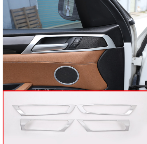 4pcs Chrome Silver Car Side Door Handle Cover Trim for BMW X3 F25 2011-2015