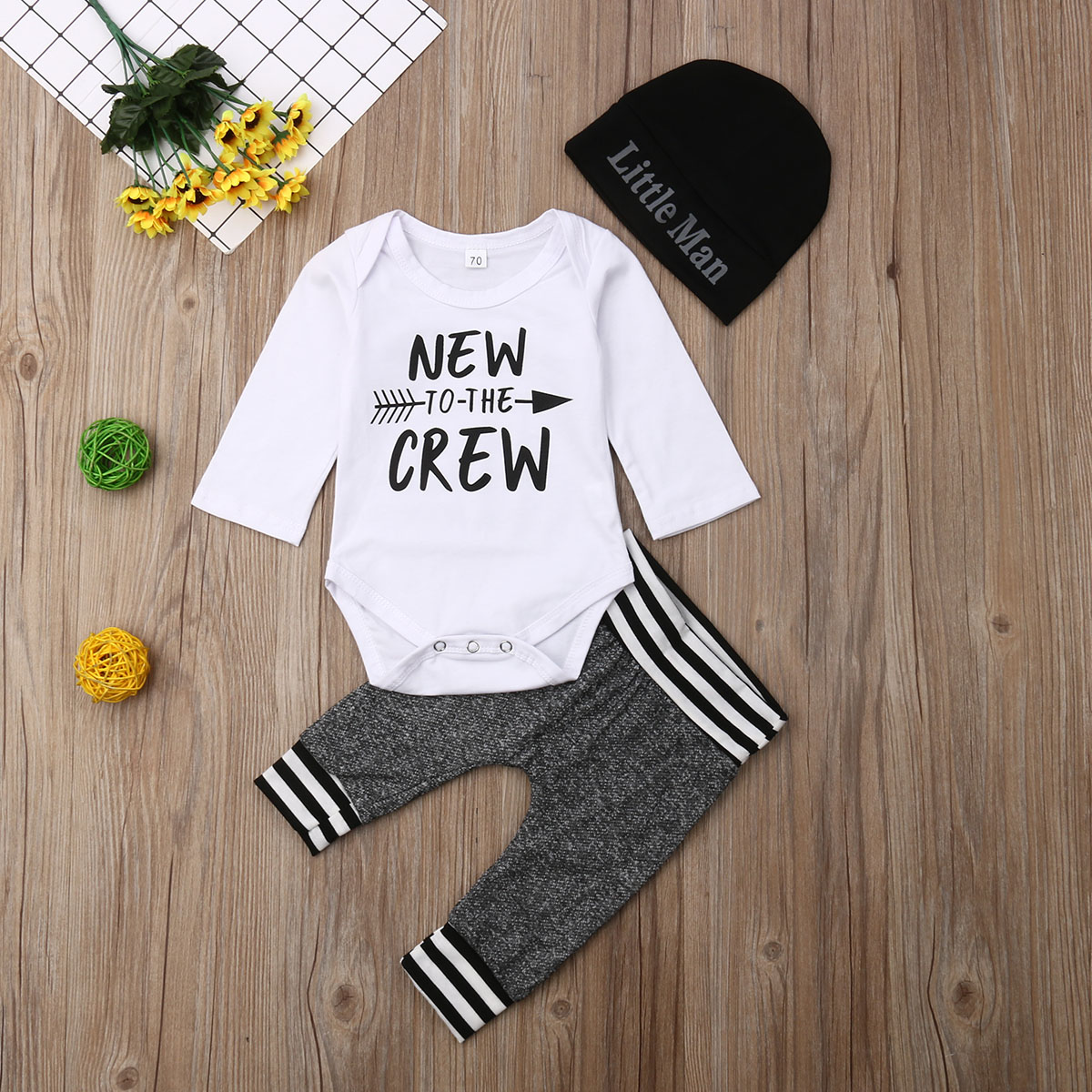 Baby Boy Girl Clothes Arrow and Letters Print Summer Cotton Sleeveless Outfits Set Tops and Short Pants